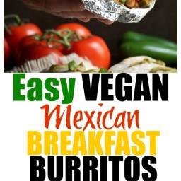 Easy Vegan Mexican Breakfast Burritos