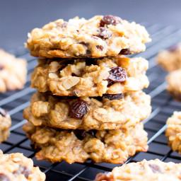 Easy Vegan Peanut Butter Banana Breakfast Cookies (Gluten Free, V, DF, One