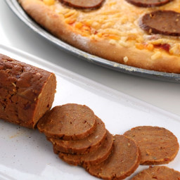 Easy Vegan Seitan Pepperoni