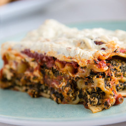 Easy Vegan Spinach and Mushroom Lasagna