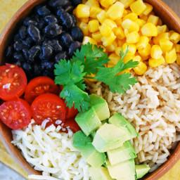 Easy Vegetarian Burrito Bowl