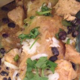 Easy Verde Chicken Enchiladas