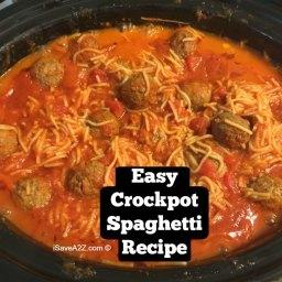 Easy Crockpot Spaghetti Recipe