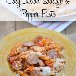 Easy Italian Sausage and Pepper Pasta