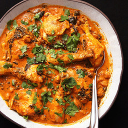 Easy Pressure Cooker Chicken and Chickpea Masala