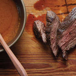 Easy Steak Sauce with Seared Hanger Steak