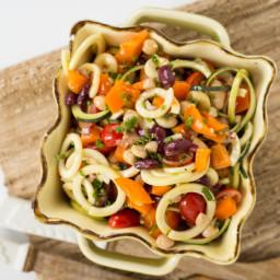 "Easy Three Bean Zucchini ""Macaroni"" Salad"
