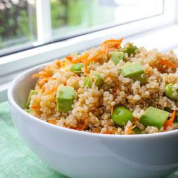 Edamame and Avocado Quinoa Salad