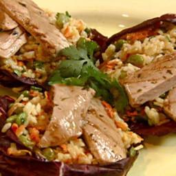 Edamame-Rice Salad with Teriyaki Tuna