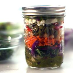 Eddie Jackson's Mason Jar Salad and Salad Dressing