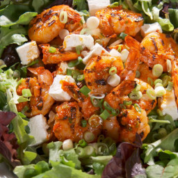 Eddie's Grilled Shrimp and Roasted Red Pepper Salad