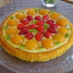 Edna's Easy Fruit Sponge Flan Dessert