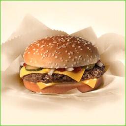 Eenvoudige cheeseburger
