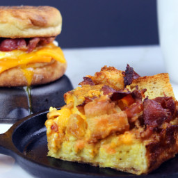 Egg and Bacon McMuffin Casserole Egg Bake