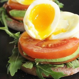 Egg and Canadian Bacon English Muffin