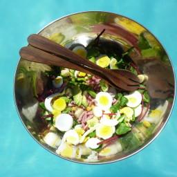 Egg, Avocado and Heart of Palm Salad