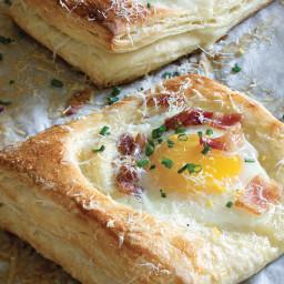 Egg, Bacon, and Pecorino Danish