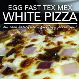 Egg Fast Recipe – Tex Mex White Egg Pizza a Low Carb Keto Pizza Bonanza!