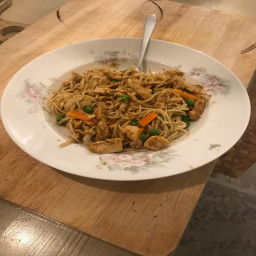 Egg Noodles with Shrimp and Chicken
