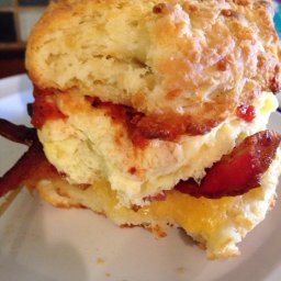 Egg on a biscuit