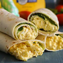 Egg Salad Spinach Wraps