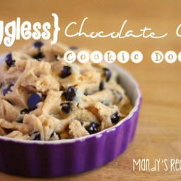 {Eggless} Chocolate Chip Cookie Dough