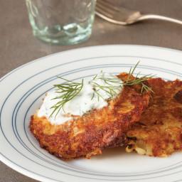 Eggless Leek and Potato Latkes