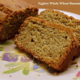Eggless Whole wheat Banana Bread