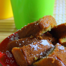 Eggless Whole wheat Coconut Cake