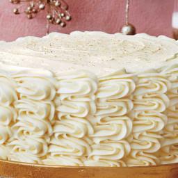 Eggnog Spice Cake with Bourbon Custard Filling and Eggnog Buttercream Recip