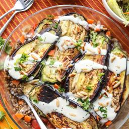 Eggplant and Lentil Bake