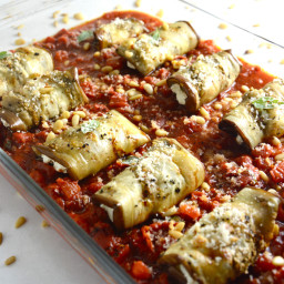 Eggplant Involtini with Cashew Ricotta