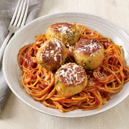 Eggplant Meatballs with Marinara Sauce