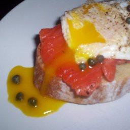 Eggs and Gravlax