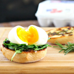 Eggs & Arugula with Rosemary Garlic Toast