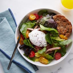 Eggs Benedict Breakfast Salad