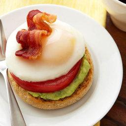 Eggs Benedict with Avocado Cream