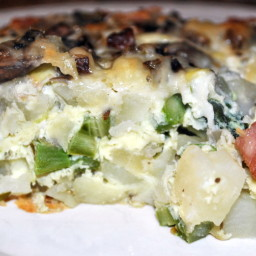 Eggs, Potatoes, Ham and Asparagus Casserole