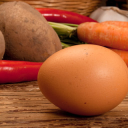 Eggy Carrot and Sweet Pepper Soup
