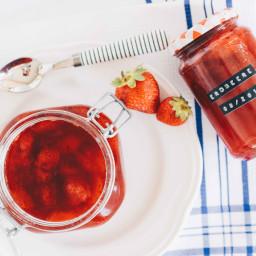 Einfache Vegane Erdbeermarmelade selber machen