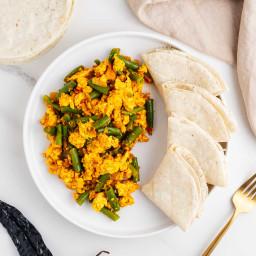 Ejotes con Huevo (Vegan Green Beans & Eggs)