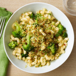 Elbow Macaroni with Crispy Breadcrumbs and Broccoli