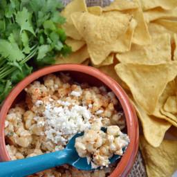 Elote cremoso con queso Cotija