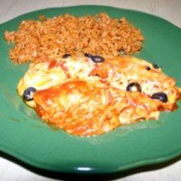 Enchiladas con Pollo - right out of the can