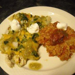 Enchiladas de Pollo en Salsa Verde