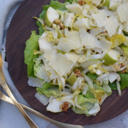 Endive and Pear Salad with Walnuts and Parmesan