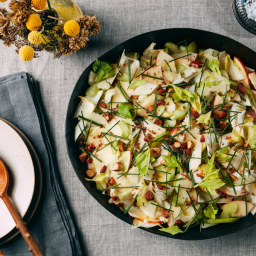 Endive, Apple, and Celery Salad with Smoked Almonds and Cheddar