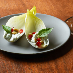 Endive Bites with Gorgonzola and Honey