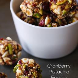 Energy Bites - Cranberry Pistacio