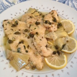 Escalope of Chicken with Artichokes and Capers